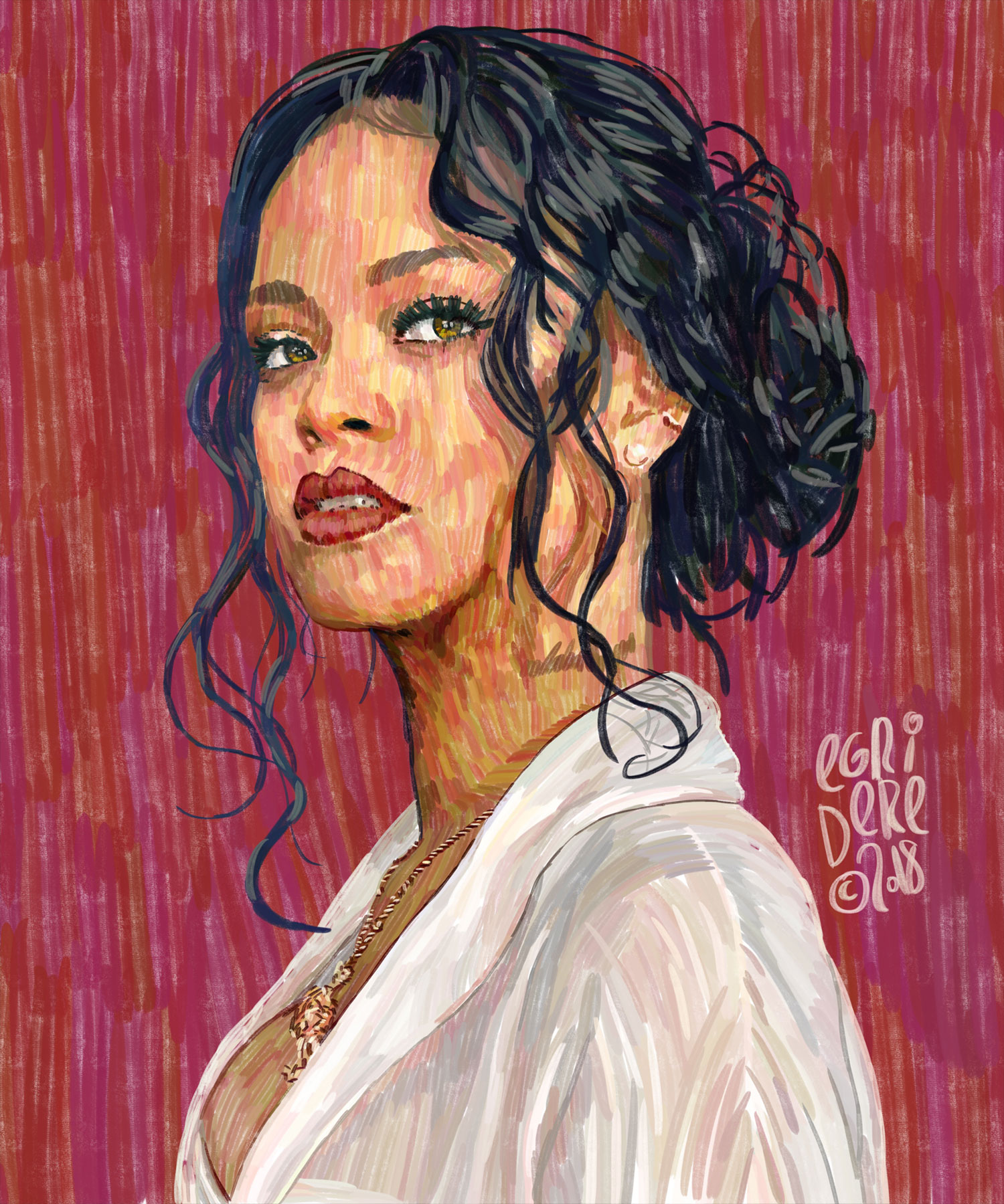 Cololine Portraits from Can Egridere rihanna