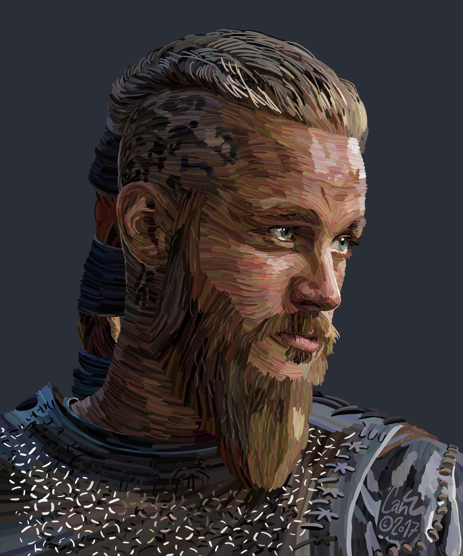 Cololine Portraits from Can Egridere ragnar travis fimmel
