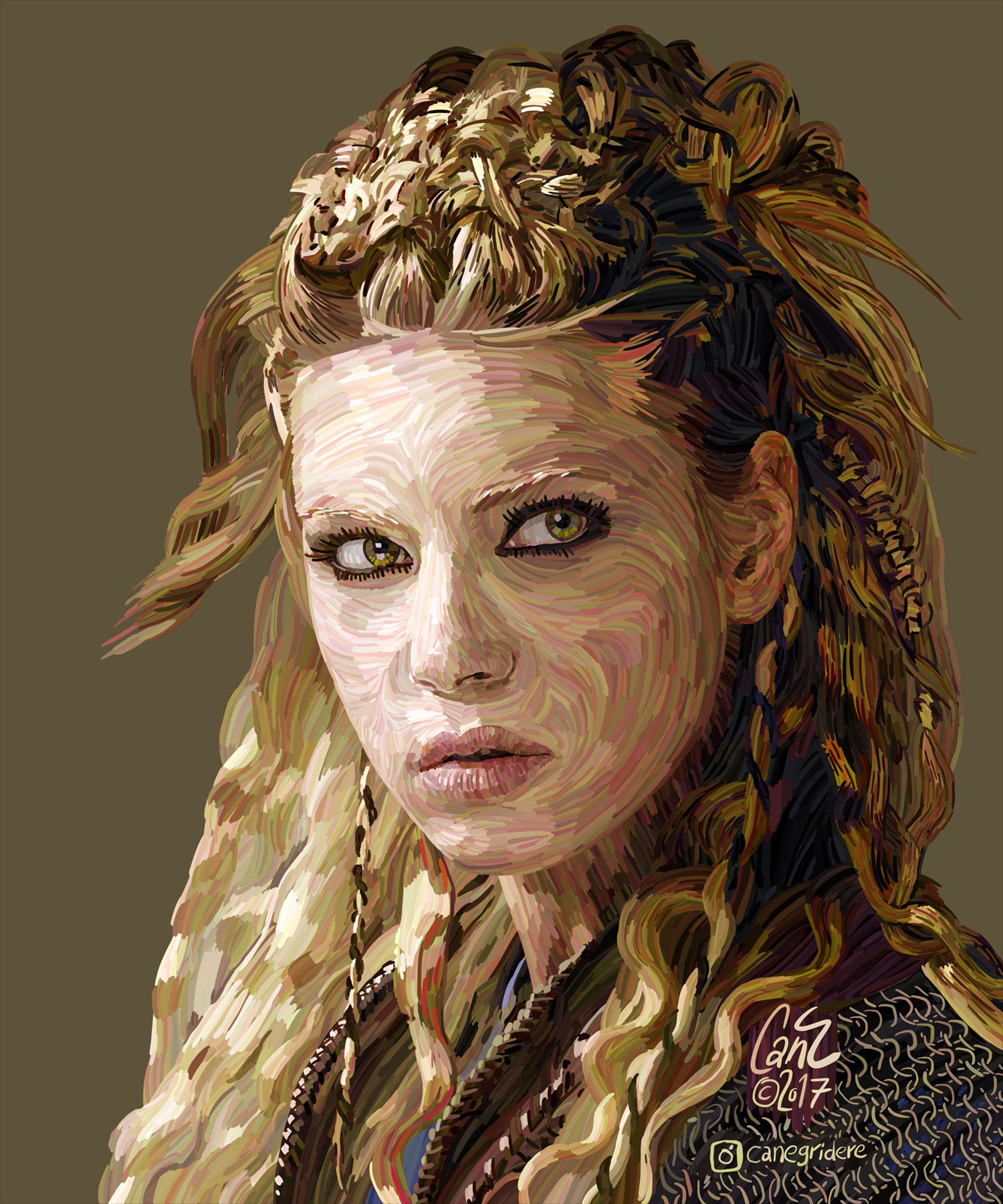 Cololine Portraits from Can Egridere lagertha katheryn winnick