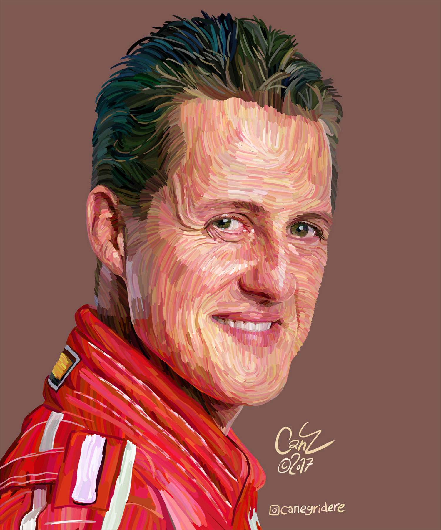 Cololine Portraits from Can Egridere michael schumacher art